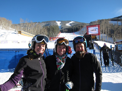 Brook Wales, Kiley Staples and Alice McKennis after the women's super G freeski in Beaver Creek (Doug Haney/U.S. Ski Team)