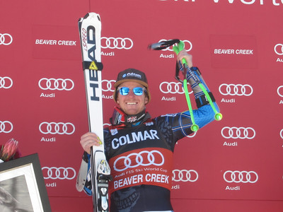 Ted Ligety after winning the second giant slalom in Beaver Creek for the 10th win of his career (Doug Haney/U.S. Ski Team)