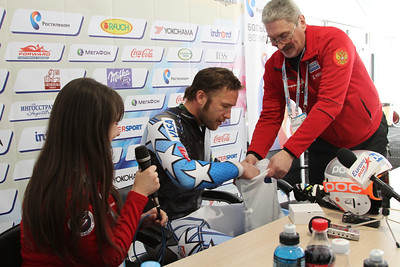 Bode Miller speaks on his excitement for the World Cup and the Olympics in Sochi, Russia during a special press event hosted by the Russian Ski Federation in Rosa Khutor (Russian Ski Federation)