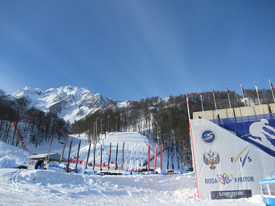 The Rosa Khutor alpine finish area (Doug Haney/U.S. Ski Team)