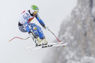 Bode Miller in action during the second downhill training run in Val Gardena (Gardena-Groeden)