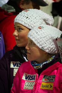 Mikaela Shiffrin and Kiley Staples Audi FIS World Cup, Zagreb, Croatia January 3, 2012 Photo: Kevin Pritchard