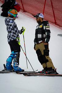 Resi Stiegler and U.S. Ski Team coach Pete Anderson Audi FIS World Cup, Zagreb, Croatia January 3, 2012 Photo: Kevin Pritchard