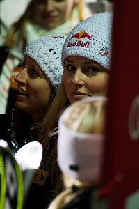Hailey Duke and Lindsey Vonn Audi FIS World Cup, Zagreb, Croatia January 3, 2012 Photo: Kevin Pritchard