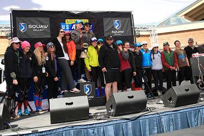 Tom Garner Memorial Trophy awarded to the Western Region Women's Slalom 2013 Nature Valley U.S. Alpine Championships at Squaw Valley, California Photo: Sarah Brunson/U.S. Ski Team