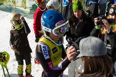 Mikaela Shiffrin Women's Slalom 2013 Nature Valley U.S. Alpine Championships at Squaw Valley, California Photo: Mark Epstein/U.S. Ski Team