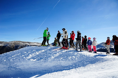 Checkin' out the start ramp on opening day at the U.S. Ski Team Speed Center at Copper. (Tom Kelly/USSA)
