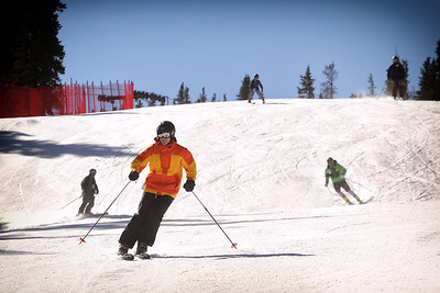 Guests enjoy freeskiing to open the U.S. Ski Team Speed Center at Copper Mountain (Tripp Fay/Copper Mountain)