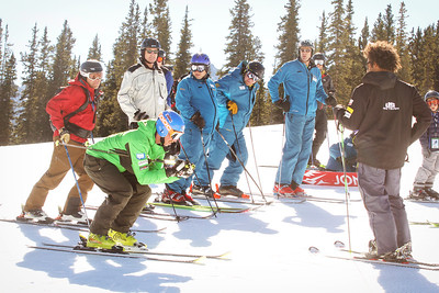 Michael Ankeny and Coach Josh Applegate along with Copper skiers help open the U.S. Ski Team Speed Center at Copper Mountain (Tripp Fay/Copper Mountain)