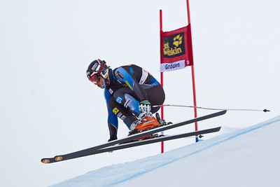 VAL GARDENA, ITALY - DECEMBER 13: Thomas Biesemeyer of USA in action on the Saslong course whilst taking part in the second official training session for the Audi FIS Alpine Ski World Cup Downhill race on December 13 2012 in Val Gardena, Italy. (Photo by Mitchell Gunn/ESPA) *** Local Caption *** Thomas Biesemeyer
