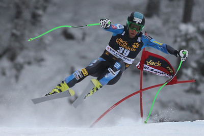 VAL GARDENA, ITALY - DECEMBER 15: Steven Nyman of USA  races down the Saslong course whilst competing in the Audi FIS Alpine Ski World Cup Downhill race on December 15 2012 in Val Gardena, Italy. (Photo by Mitchell Gunn/ESPA) Image may be used for editorial use only.
