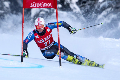 ALTA BADIA, ITALY - DECEMBER 16: Tim Jitloff of USA races down the Gran Risa course whilst competing in the Audi FIS Alpine Ski World Cup Giant Slalom race on December 16 2012 in Alta Badia, Italy. (Photo by Mitchell Gunn/ESPA) *** Local Caption *** Tim Jitloff