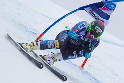 VAL GARDENA, ITALY - DECEMBER 14: Ted Ligety of USA races down the Saslong course whilst competing in the Audi FIS Alpine Ski World Cup Super Giant  Slalom race on December 14 2012 in Val Gardena, Italy. (Photo by Mitchell Gunn/ESPA) Image may be used for editorial use only.