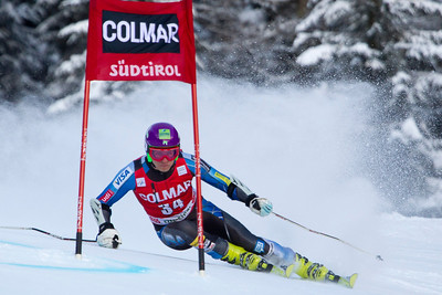 ALTA BADIA, ITALY - DECEMBER 16: Tommy Ford of USA races down the Gran Risa course whilst competing in the Audi FIS Alpine Ski World Cup Giant Slalom race on December 16 2012 in Alta Badia, Italy. (Photo by Mitchell Gunn/ESPA) *** Local Caption *** Tommy Ford