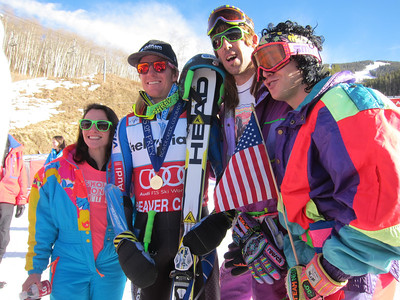 Ted Ligety with fans Audi Birds of Prey Giant Slalom in Beaver Creek, CO Dec. 2, 2012 (photo: Doug Haney/USSA)