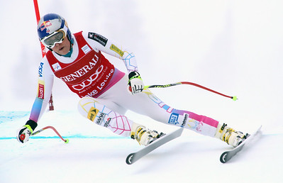 Lindsey Vonn ripped to the 54th Audi FIS Alpine World Cup win of her career as Stacey Cook finished second for the first podium of her career (Alpine Canada) Image may be used for editorial use only.