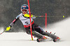 SCHLADMING, AUSTRIA - FEBRUARY 16: Mikaela Shiffrin of the USA  races down the hill during the Alpine FIS Ski World Championships slalom race on February 16, 2013 in Schladming, Austria, (Photo by Mitchell Gunn/ESPA) Image may be used for editorial purposes only.