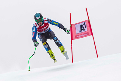 KITZBUHEL, AUSTRIA - JANUARY 25:  races down the course whilst competing in the Audi FIS Alpine Ski World Cup SuperG on January 25, 2013 in Kitzbuhel, Austria, (Photo by Mitchell Gunn/ESPA) Image may be used for editorial use only.
