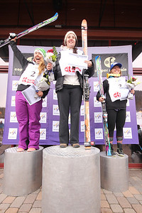 First place: Jacqueline WILES, Second place: Katie RYAN, Third place: Anna MARNO  Nature Valley U.S. Alpine Championships - Downhill Copper Mountain Photo © Tripp Faye/Copper Mountain Image may be used for editorial use only.