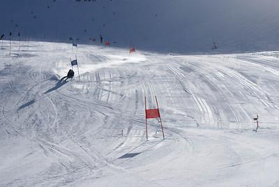 Women's alpine trains giant slalom at Mt. Hutt in New Zealand (Mt. Hutt)