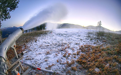 Snowmaking began Oct. 1, 2013 at the U.S. Ski Team Speed Center at Copper Mountain. The facility is expected to open Nov. 1 for training. (Copper Mountain)
