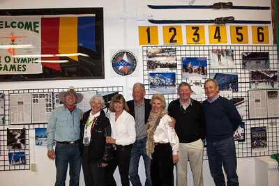 1960/64 U.S. Olympic Ski Team Alumni at the 1960 Olympic Museum in Squaw Valley Photo: U.S. Ski Team