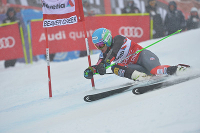 Ted Ligety speeds to first place in the Audi Birds of Prey GS to close the Audi Birds of Prey race week in Beaver Creek.  Photo: Grafton Smith
