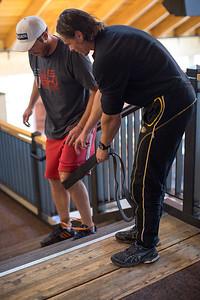 Bode Miller training with Tony Beretzki Photo: USSA