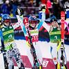 Veronika Velez Zuzlova (2nd), Mikaela Shiffrin (1st) and Frida Hansdotter (3rd)<br /> Slalom Day 1<br /> 2015 Nature Valley Aspen Winternational - Aspen, CO<br /> Photo: Sarah Brunson/U.S. Ski Team