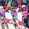 Eva-Maria Brem (2nd), Lara Gut (1st) and Federica Brignone (3rd)<br /> GS <br /> 2015 Nature Valley Aspen Winternational - Aspen, CO<br /> Photo © U.S. Ski Team