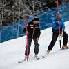 Tiger Shaw helping an Aspen course worker<br /> Slalom Day 2<br /> 2015 Nature Valley Aspen Winternational - Aspen, CO<br /> Photo: Sarah Brunson/U.S. Ski Team
