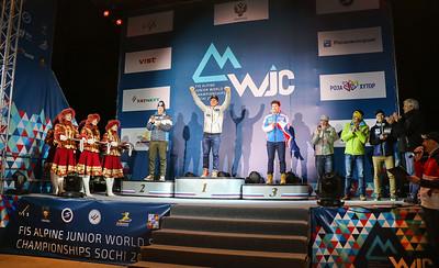 Erik Arvidsson Celebrates Junior Worlds Gold