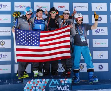 American Celebrate Record Downhill Finish at Junior Worlds