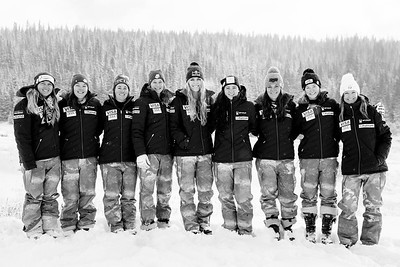 2016-17 Women's U.S. Alpine Speed Team  (l-r) Anna Marno, Leanne Smith, Stacey Cook, Alice McKennis, Lindsey Vonn, Jacqueline Wiles, Breezy Johnson, Laurenne Ross, Julia Mancuso  Photo: U.S. Ski Team