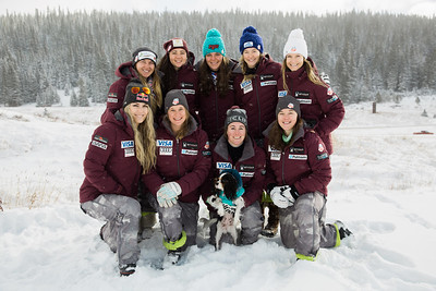 2016-17 Women's U.S. Alpine Speed Team  Back row: Anna Marno, Jacqueline Wiles, Breezy Johnson, Laurenne Ross, Julia Mancuso Front row: Lindsey Vonn, Alice McKennis, Stacey Cook, Leanne Smith  Photo: U.S. Ski Team