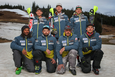 2016-17 Men's U.S. Alpine Slalom Team  Back row: Mark Engel, Michael Ankeny, AJ Ginnis Front row: Josh Applegate, AJ Hoelke, John Mulligan, Ian Lochhead Missing: Nolan Kasper, Sarah Gillespie  Photo: Tripp Fay