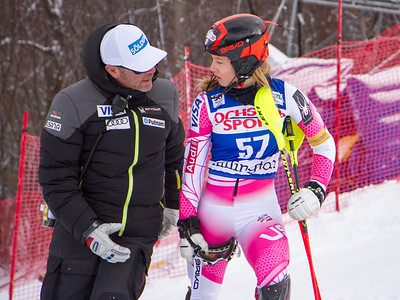 Patrick Riml and Patricia Mangan Slalom 2016 Audi FIS World Cup - Killington, VT Photo © Reese Brown