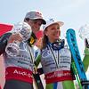 Combined Globe winners: Alexis Pinturault and Ilka Stuhec<br /> 2017 Audi FIS Ski World Cup finals in Aspen, CO.<br /> Photo: U.S. Ski Team