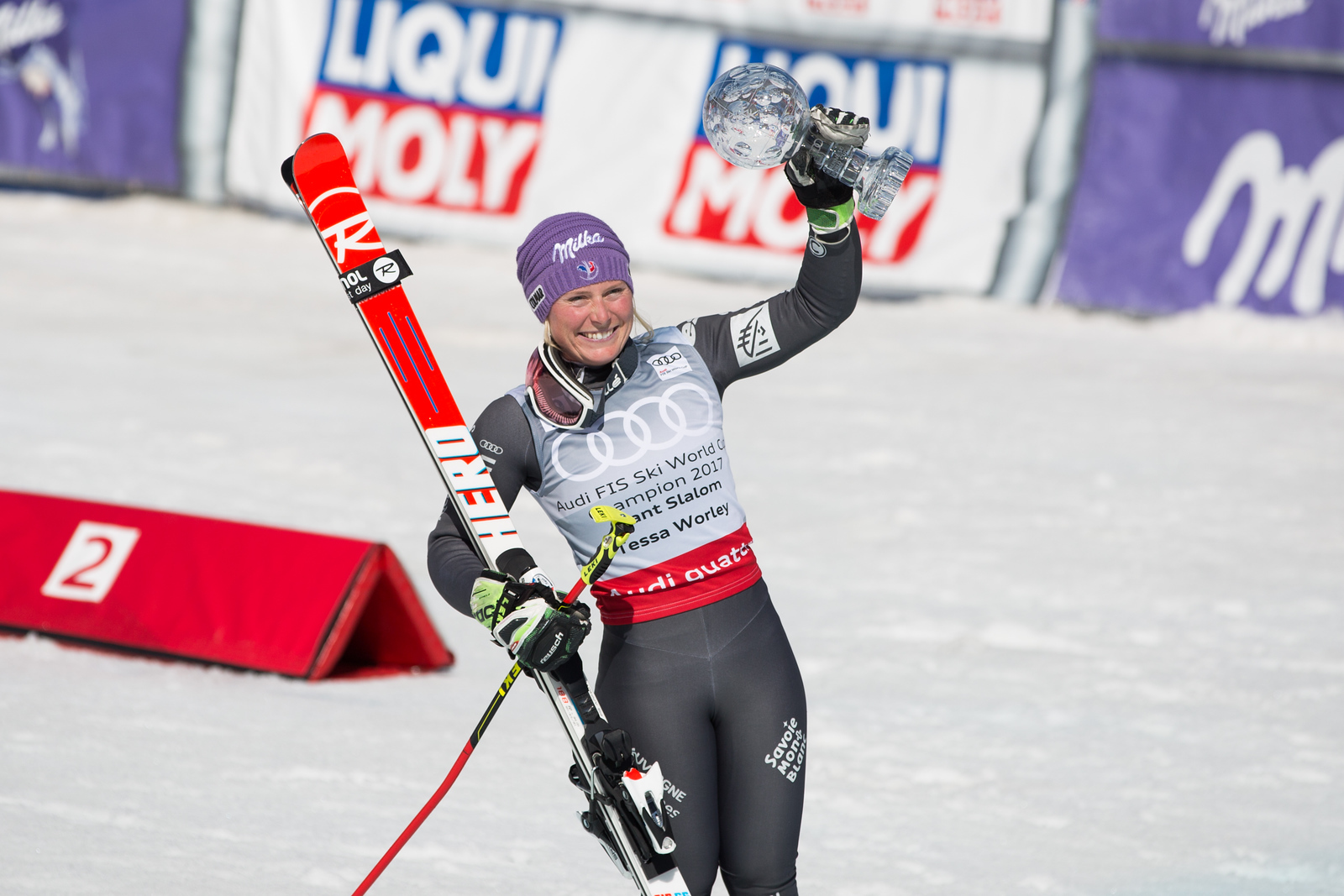 Tessa Worley GS 2017 Audi FIS Ski World Cup finals in Aspen, CO. Photo: U.S. Ski Team