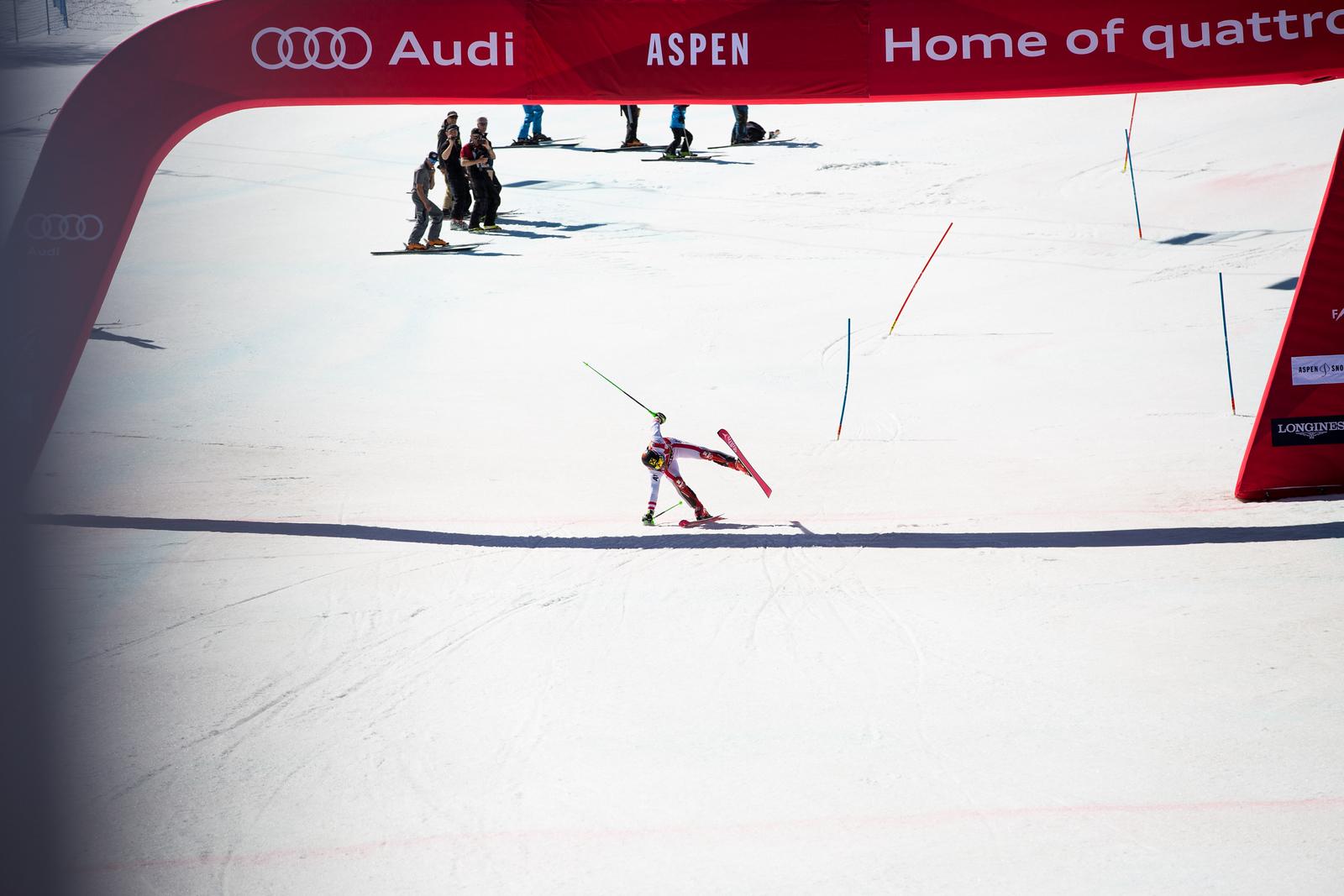 Marcel Hirscher Slalom 2017 Audi FIS Ski World Cup finals in Aspen, CO. Photo: U.S. Ski Team