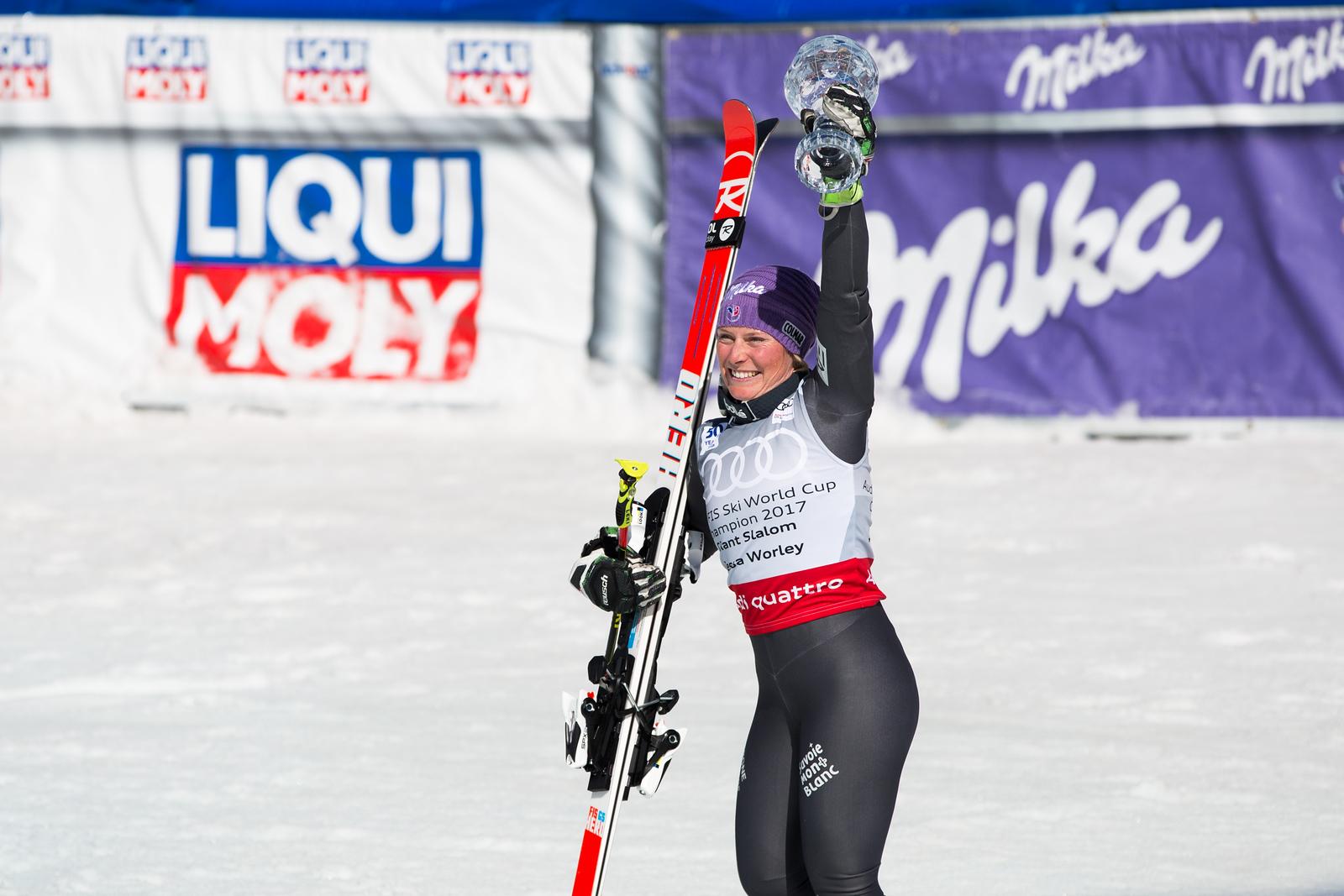 Tessa Worley GS 2017 Audi FIS Ski World Cup finals in Aspen, CO. Photo: U.S. Ski Team