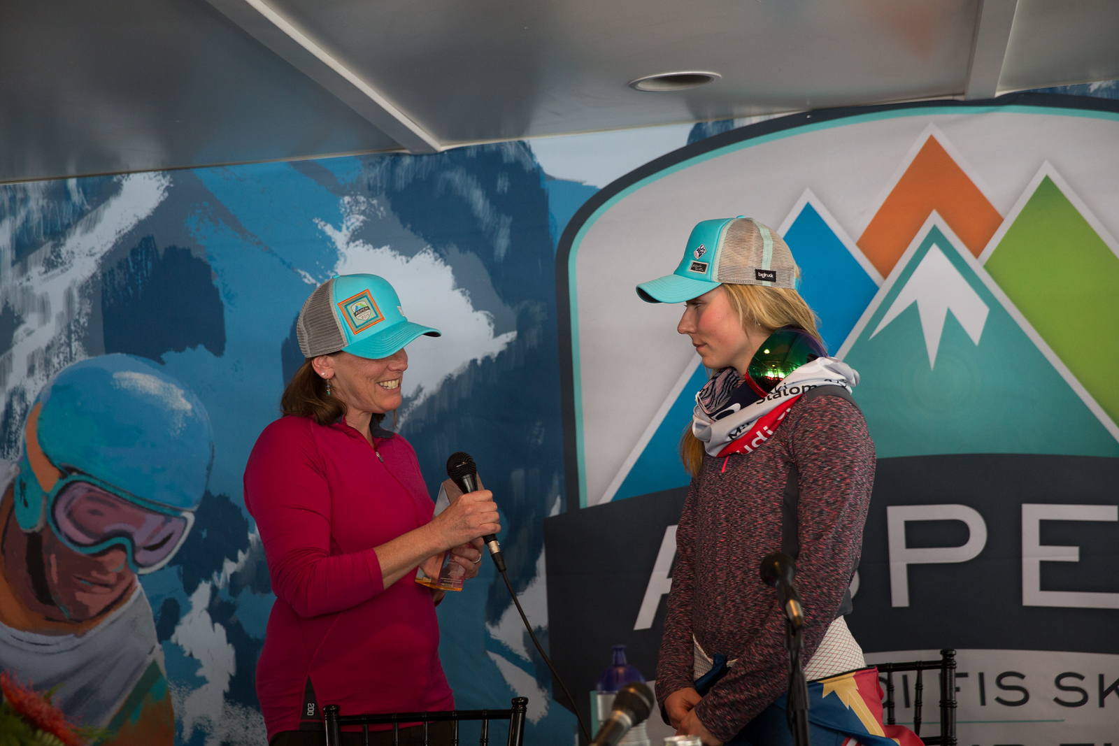 North American Snowsports Journalists Association skier of year trophy awarded to Mikaela Shiffrin 2017 Audi FIS Ski World Cup finals in Aspen, CO. Photo: U.S. Ski Team