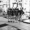 (l-r) Nina O'Brien, Patricia Mangan, Alice Merryweather and Galena Wardle<br /> U.S. Ski Team workout at the Center of Excellence in Park City, UT<br /> Photo: U.S. Ski Team