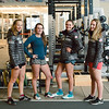 (l-r) Patricia MAngan, Galena Wardle, Alice Merryweather and Nina O'Brien<br /> U.S. Ski Team workout at the Center of Excellence in Park City, UT<br /> Photo: U.S. Ski Team