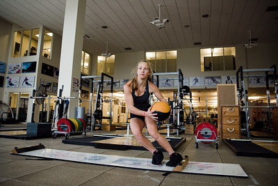 Patricia Mangan U.S. Ski Team workout at the Center of Excellence in Park City, UT Photo: U.S. Ski Team