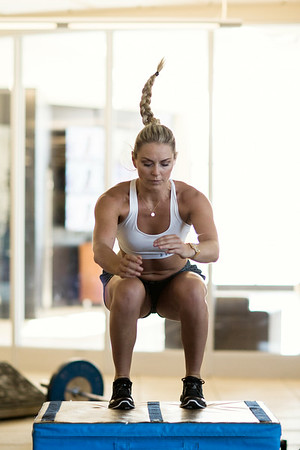 Lindsey Vonn workout at COE