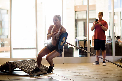 Lindsey Vonn working out at the Center of Excellence in Park City, UT Photo: Sarah Brunson/U.S. Ski Team