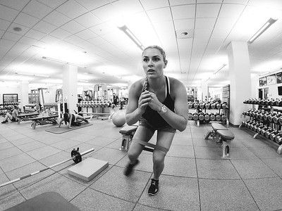 Lindsey Vonn working out at the Center of Excellence in Park City, UT Shot with GoPro Photo: U.S. Ski Team