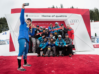 Slalom 2017 Audi FIS Ski World Cup in Squaw Valley, CA Photo © Jon Margolis