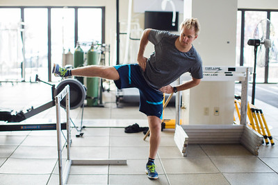 Ted Ligety working out at COE